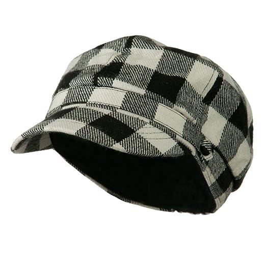 89069064cff91 Buffalo Checker Newsboy Hat - Black OSFM at Amazon Men s Clothing ...