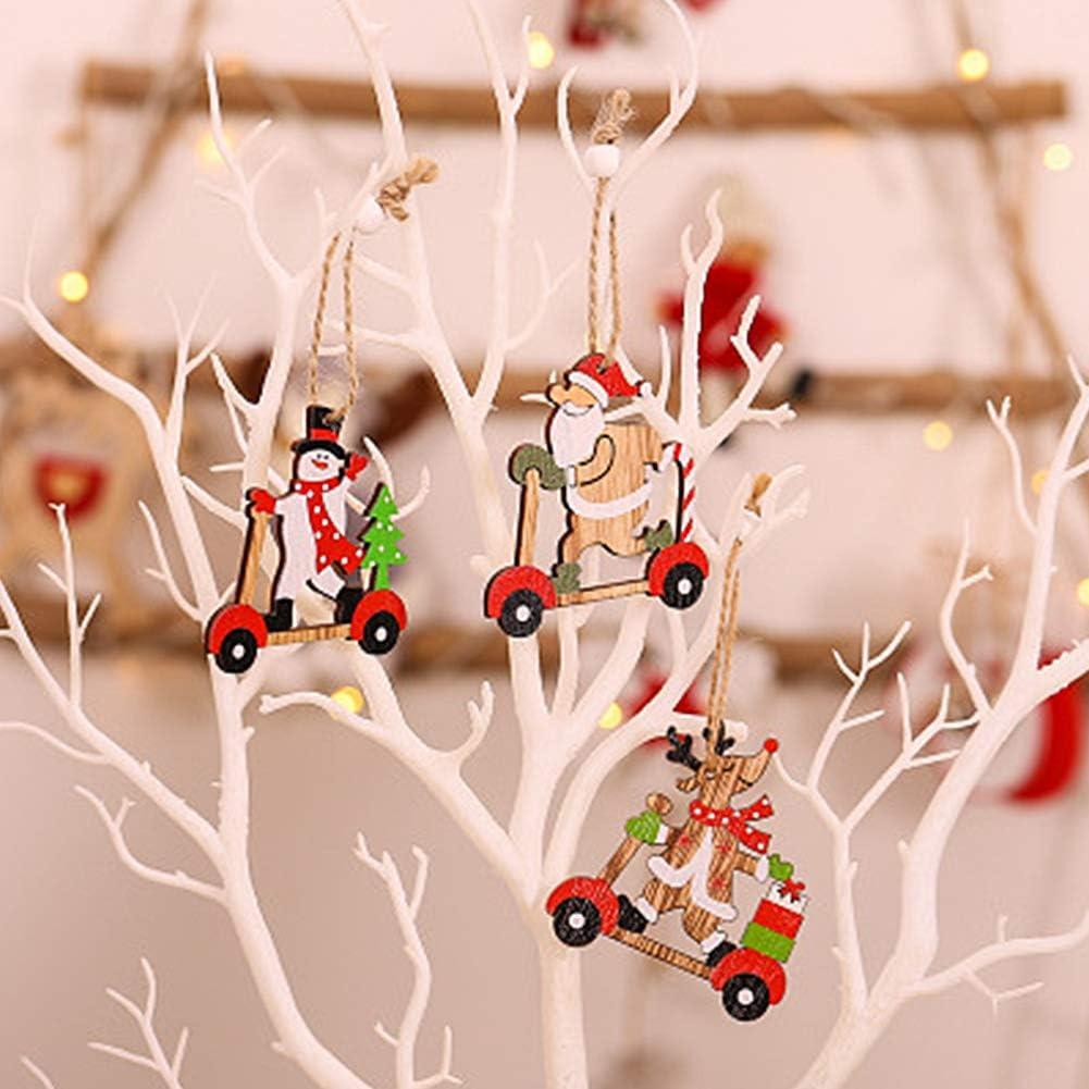 PINPOXE Adornos navideños, Colgantes para árboles de Navidad, Adornos para árboles de Navidad, Decoración navideña de Bricolaje, álbumes de Recortes ...
