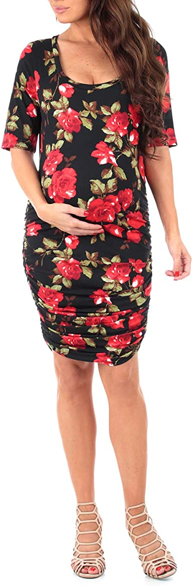 Women S Ruched Maternity Dress Made In Usa At Amazon Women S Clothing Store
