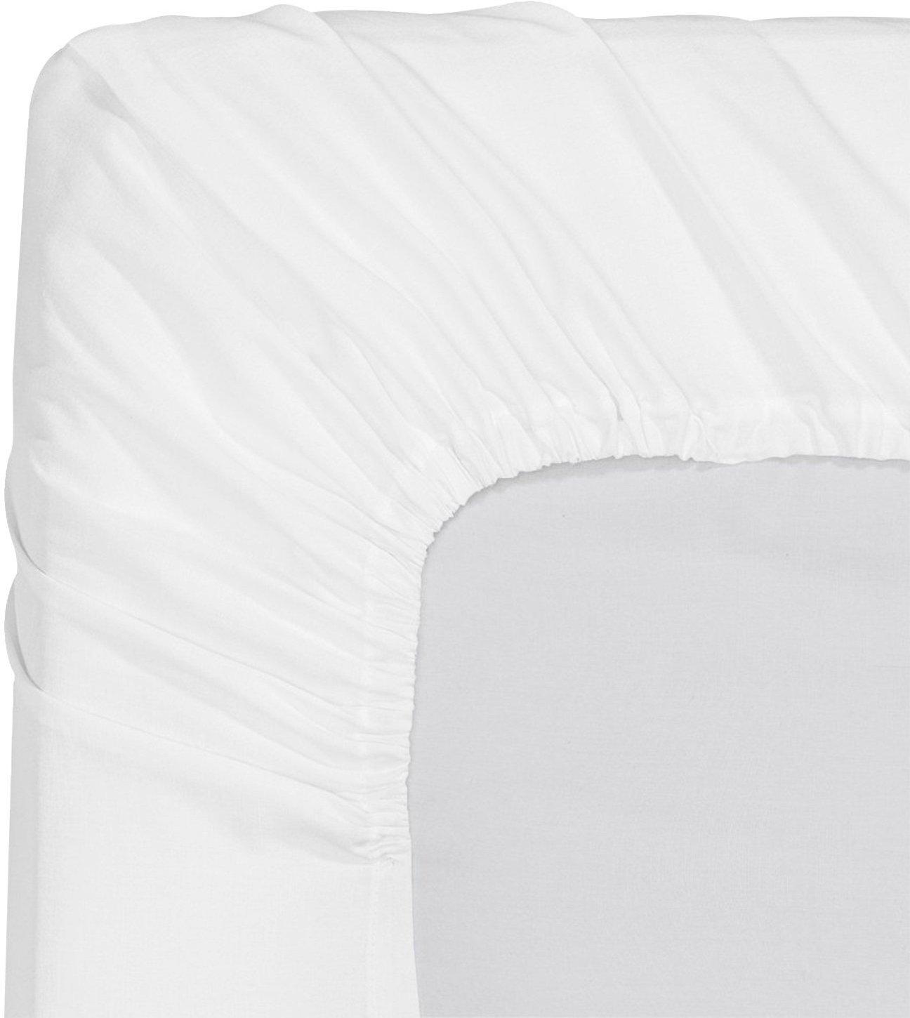 Utopia Bedding Premium Cotton Fitted Sheet Thread Count 300 (Twin, White) – 100% Combed Cotton Sateen - Super Soft Mercerized Fabric - Machine Washable