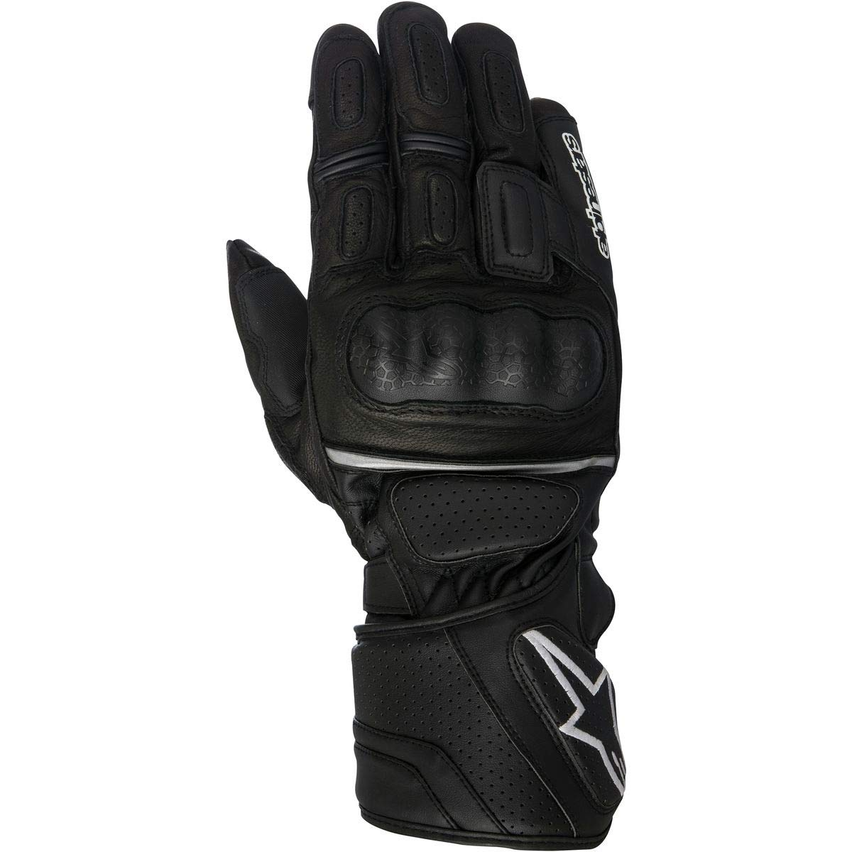 color negro Alpinestars sp-z Drystar impermeable guantes de moto de cuero
