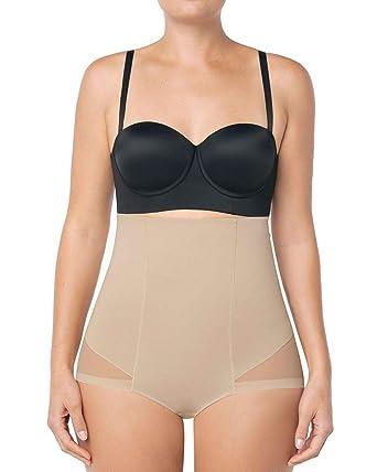 b7f717c96 Leonisa Women s Invisible High Waist Firm Tummy Control Bodysuit ...