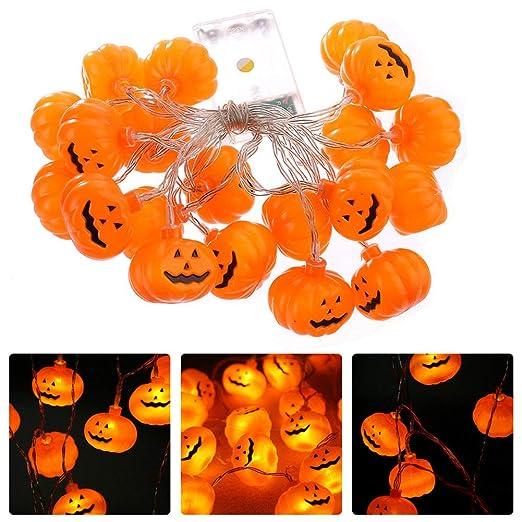 NNIUK 20 LED Fata Zucca luce della stringa per la decorazione di Halloween  del partito di bccb93007826