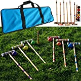 Bud Light Trademark Global Croquet Set with Carrying Case- Various Licenses