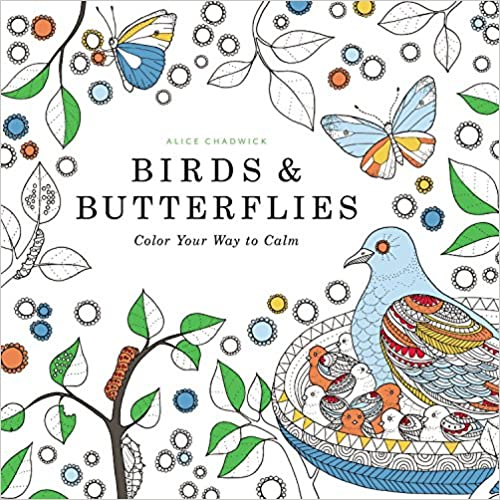 Book Birds & Butterflies: Color Your Way to Calm