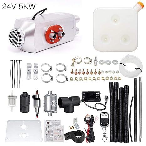 lennonsi Calentador de Aire Diesel automotriz Calentador de Combustible 5KW 12V / 24V Monitor de LCD