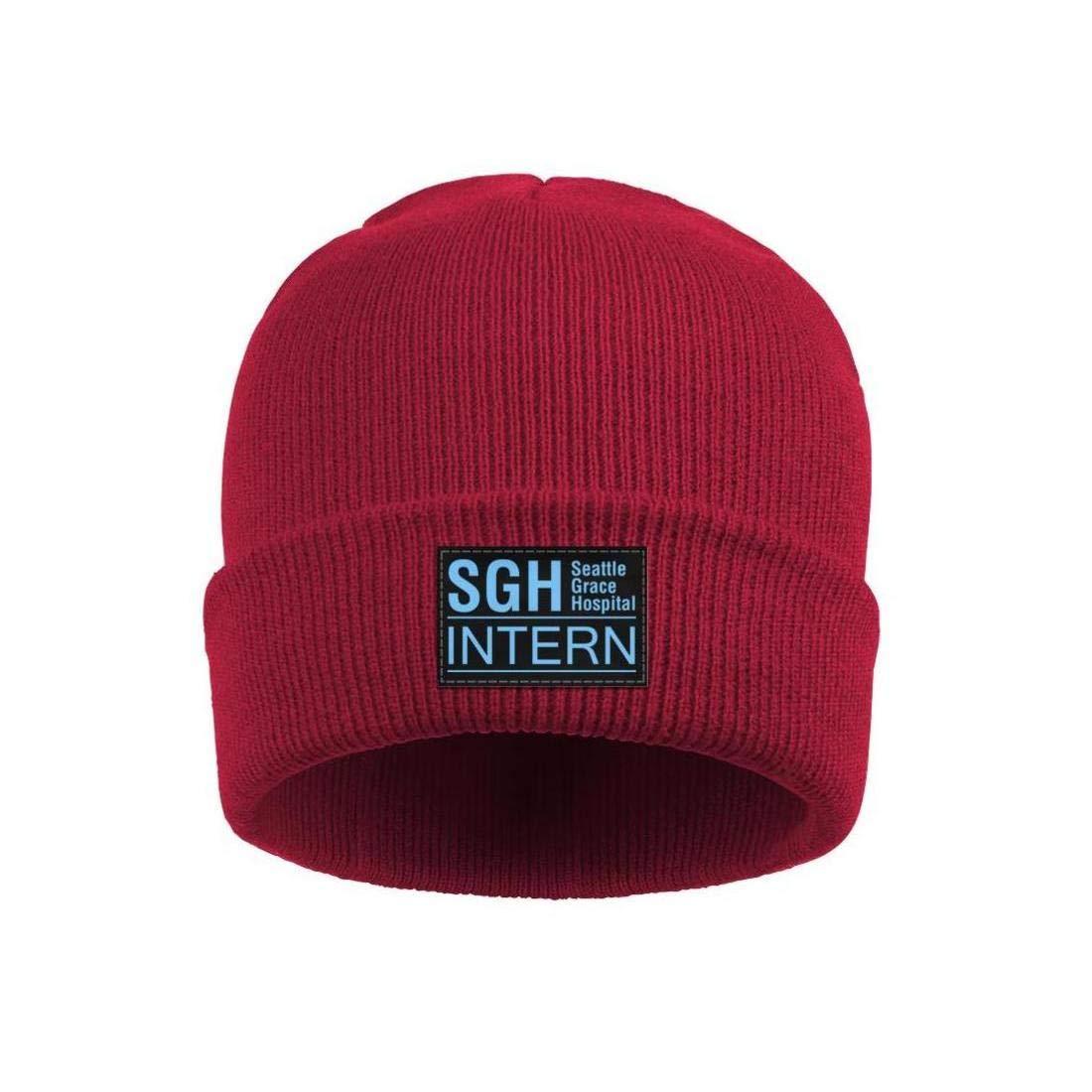 ONEYUAN Seattle Grace Intern Hospital Unisex Knit Hat Warm Woolen Sport Skull Cap Outdoor