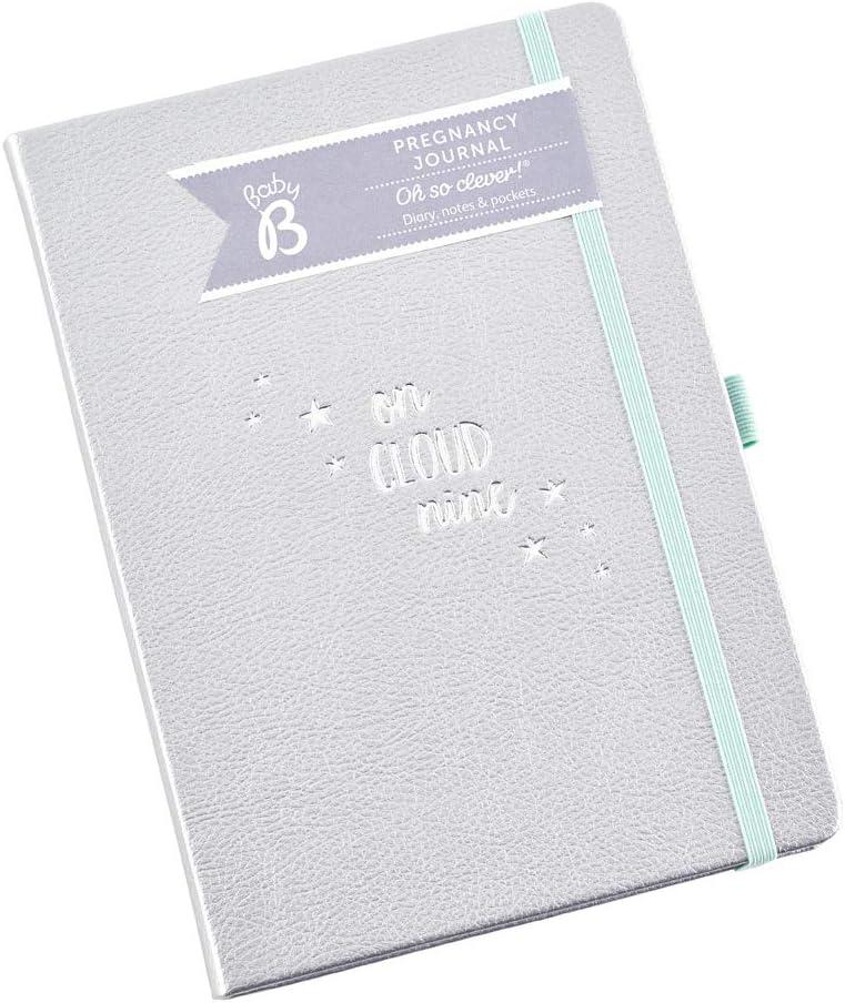 Diario de embarazo Baby B - color plata, empieza a las 8 semanas