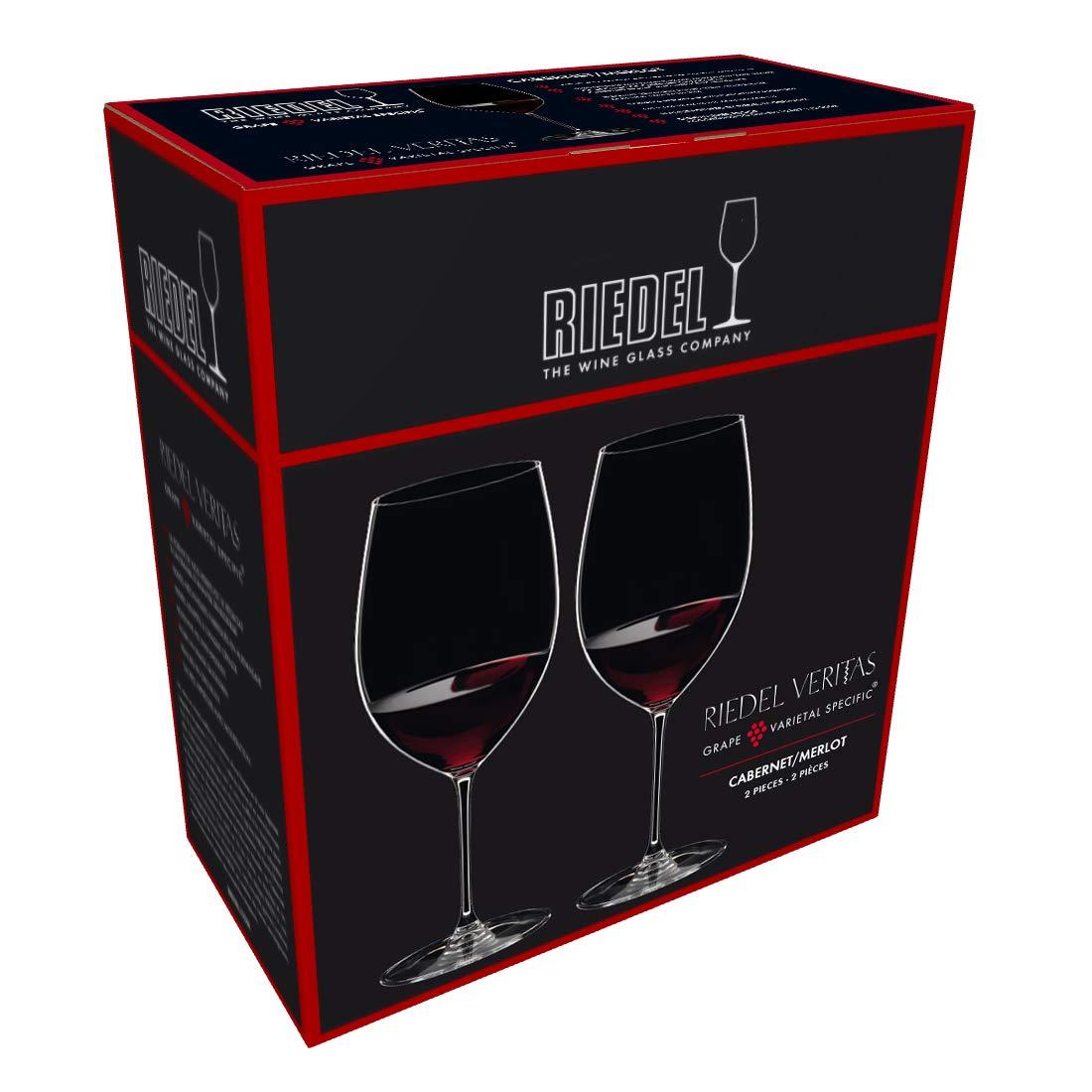 Riedel 6449/0 Veritas Cabernet/Merlot Wine Glasses, Set of 2, Clear by Riedel (Image #3)
