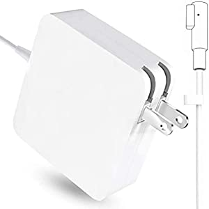 Mac Book Pro Charger, Replacement AC 60W Power Adapter, 60W White Charger L-Tip Magnetic Connector Compatible for Mac Book Pro 13-Inch(Before Mid 2012 Models)