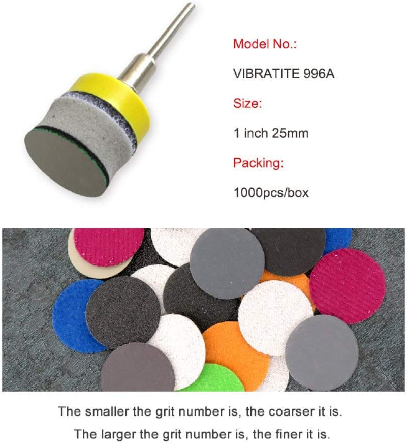 INSTO 500Pcs 1Inch Hook and Loop Sanding Disc Waterproof Sandpaper Silicon Carbide 60 to 10000 Grits for Wet or Dry Sanding,7000 1200