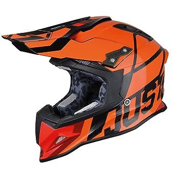 JUST1 casco J12 unidad 62-xl, color naranja, tamaño XL