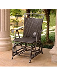 Superb Patio Glider Chair In Chocolate Finish