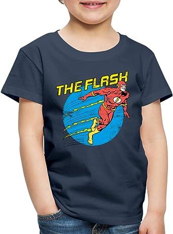 DC Comics Ligue De Justice DAm/érique Flash T-Shirt Enfant
