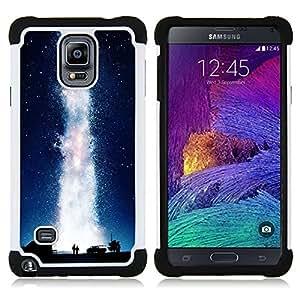- universe milky way geyser water love/ H??brido 3in1 Deluxe Impreso duro Soft Alto Impacto caja de la armadura Defender - SHIMIN CAO - For Samsung Galaxy Note 4 SM-N910 N910