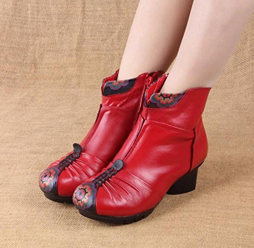 gules Retro Bota Shoes Botas El Otoño Boots Black Folk Y Estilo El Con Martin Invierno GTVERNH 68ZqPwP