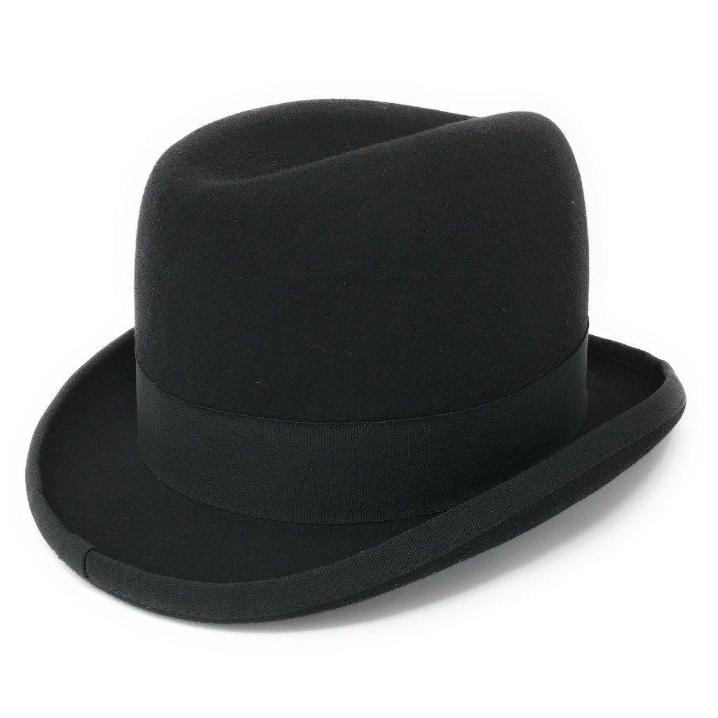 Cotswold Country Hats Black Wool Felt Homburg Mens Hat S/M/L/XL/XXL