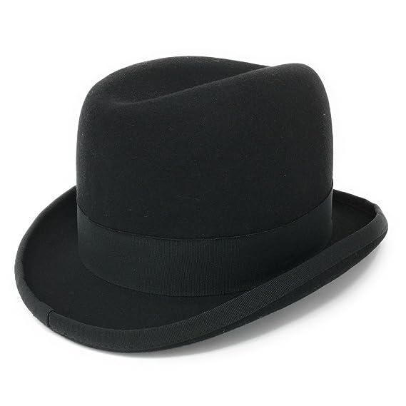 Cotswold Country Hats Black Wool Felt Homburg Mens Hat S M L XL XXL ... 73d5eb2b2470