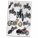 3D Rose Towel Picturing Harley Davidson174 Motorcycles