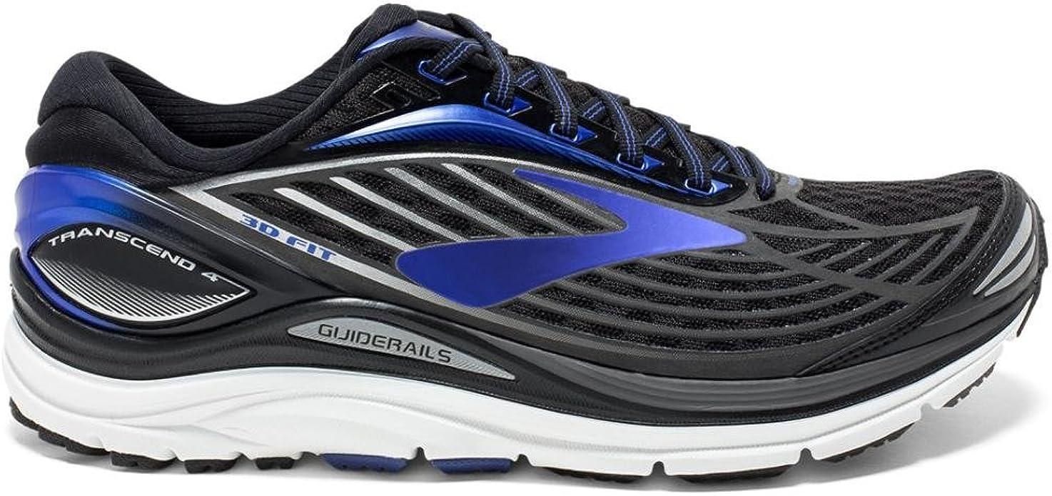 Brooks Transcend 4, Zapatos para Correr para Hombre, Negro (Black/Anthracite/Silver), 41 EU: Amazon.es: Zapatos y complementos