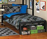 Full or Twin Bed Black or Silver Metal Frame Kids Bedroom Dorm Under Loft Beds (Black, Twin)