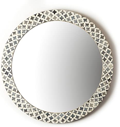 Two S Company Tozai Slate Quatrefoil Wall Mirror Home Kitchen