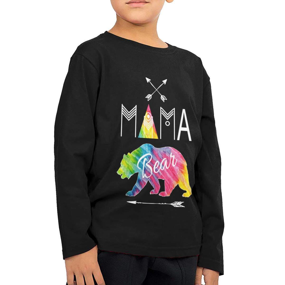 Mama Bear Childrens Long Sleeve T-Shirt Boys Cotton Tee Tops