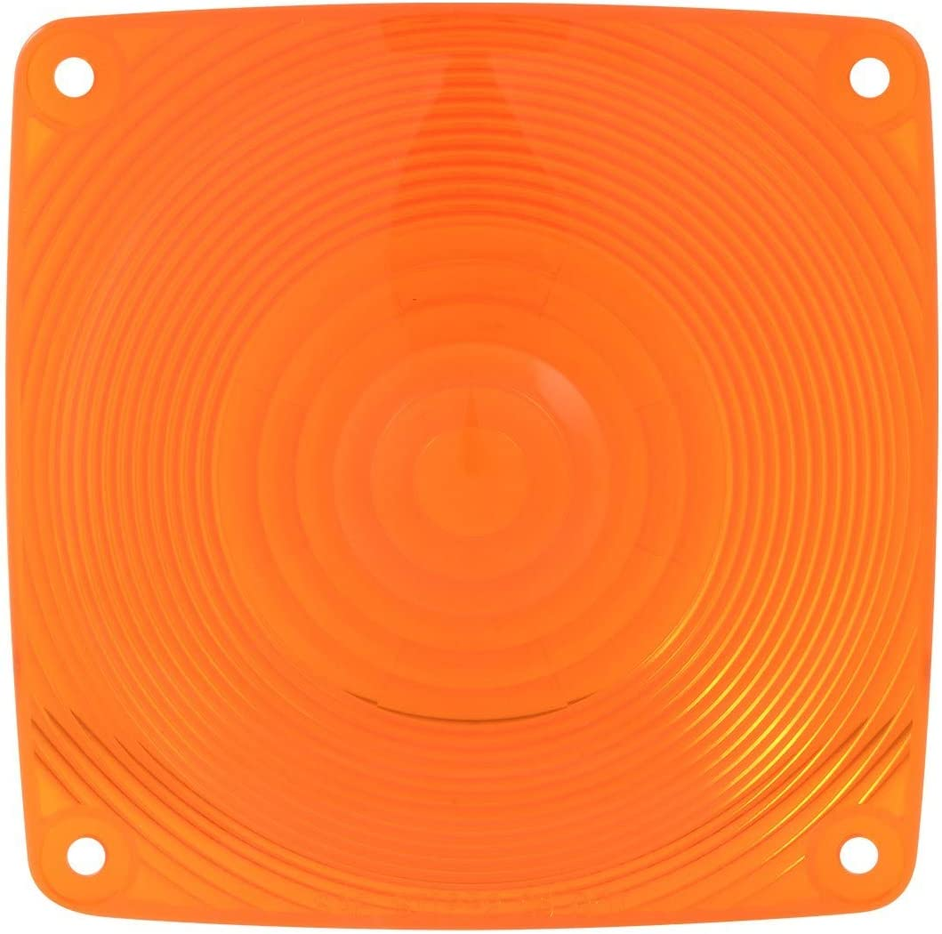 GG Grand General 80351 Amber Plastic Lens for Square Combination Light