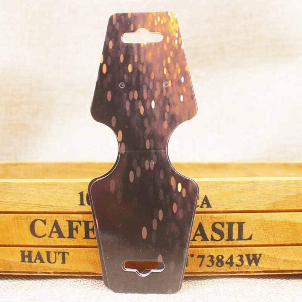 SDENSHI 100PCS Blank Kraft Paper Jewelry Necklace Bracelet Hair Elastics Display Hanging Cards Price Tags A