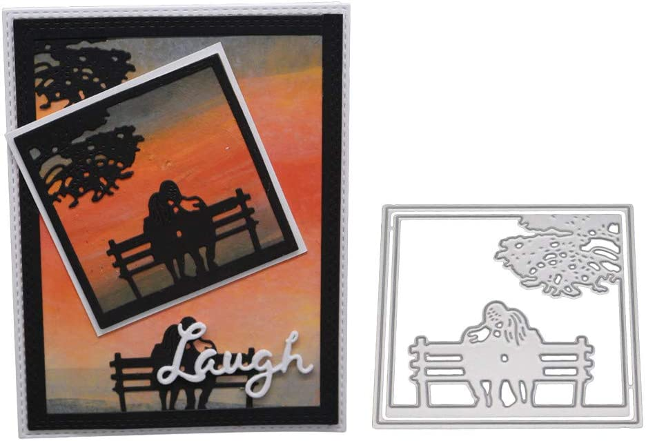 Boy pulling a sled 2 die cuts for cards or scrapbook 5 pieces