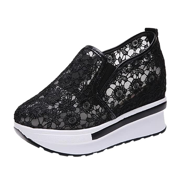 365e6872631 DENER Women Platform Wedge Sneakers
