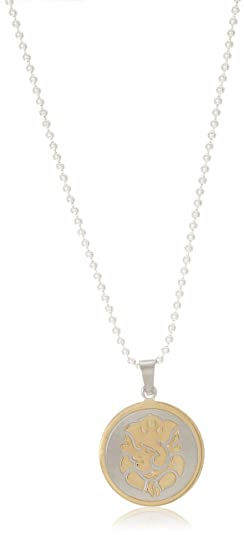 DIOVANNI Jewelry Pendant with 24K Yellow Gold Plating and Silver-Plated Chain Necklaces at amazon