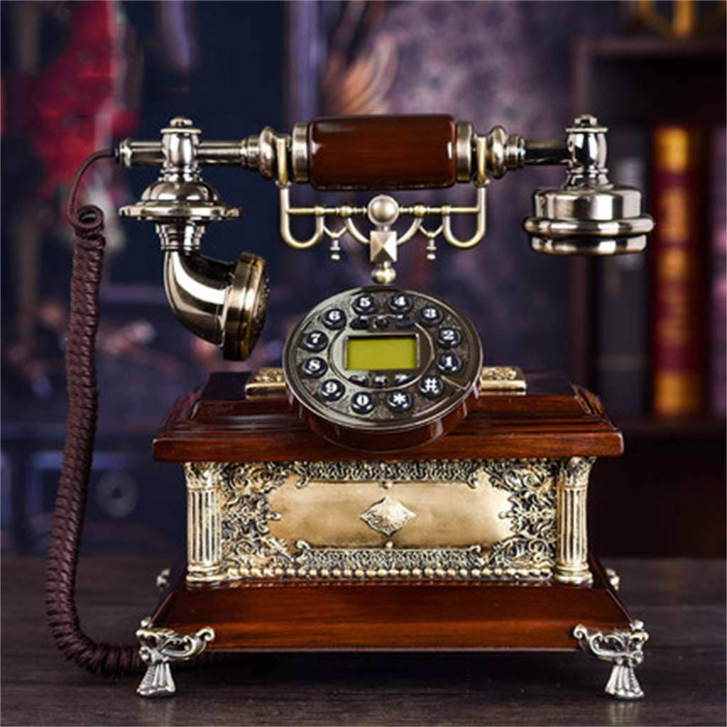 JGBHPNYX Antique European Telephone High-End Luxury Landline Fashion Home Office Vintage Antique Landline