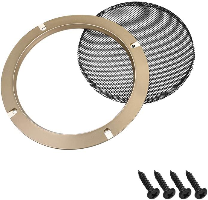 uxcell 4pcs 4 inches Speaker Grill Mesh Decorative Circle Subwoofer Guard Protector Cover Audio Accessories