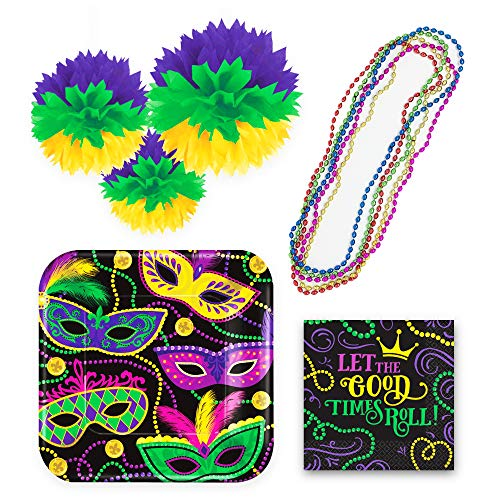Mardi Gras Door Decoration Ideas (Mardi Gras Decorations for Party | Accessories and Supplies Including: Plates, Napkins, Hanging Puffy Decor and Bead Necklaces | Great for New Orleans and Masquerade Parties)