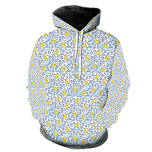 Fashion 3D Print Casual Tracksuit Jogging Sportswear Droplets Rubber Ducks Pattern Adult Duck Blanket Lined Jacket
