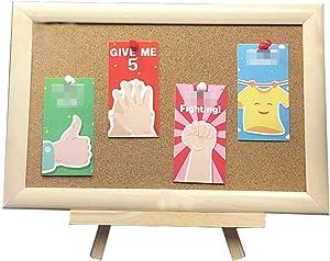 Lzttyee Bulletin Board,Cork Board on The Desktop-Message Memo Picture Board for Home Office School (White Birch)