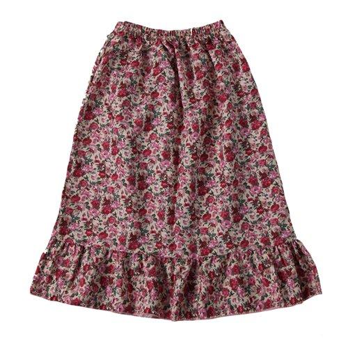 Making Believe Girls Pioneer Skirt, Pink Calico, Girls Large 8/10 ()