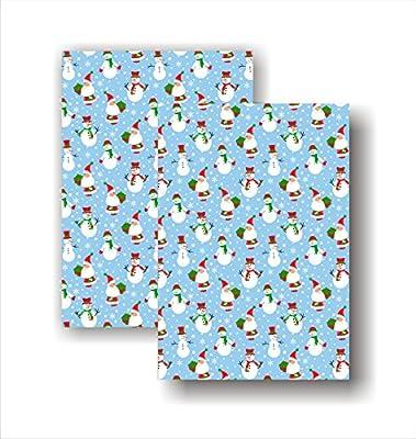 east2eden diseño de Navidad 100% algodón conjunto de 2 toallas de cocina té toalla
