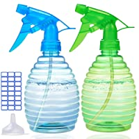 Spray Bottles for Cleaning Solutions - 16 oz Plastic Empty Spray Bottle for Hair - BPA Free Material - Spray Bottle for Plant - Multi Purpose Use Durable (2 PACK)