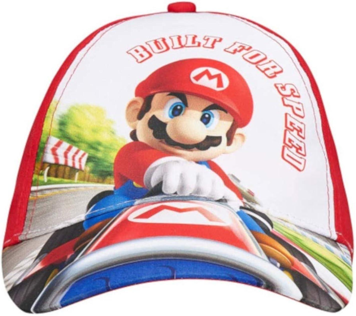 Mario Bros - Gorro - para niño Blanco/Rojo 52 cm (3-6 años ...