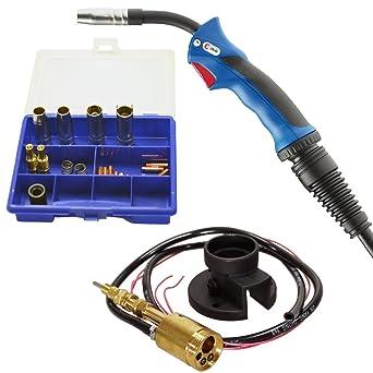 Binzel Mig/Mag Grabadora MB 15 AK Grip + scapp Euro de conector central Kit