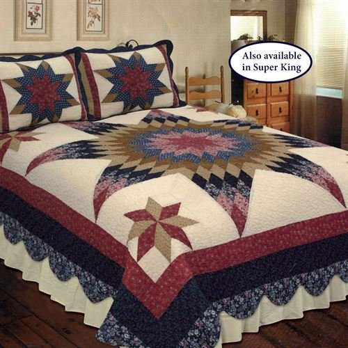 Elegant Decor Bedding Prairie Star Patchwork King Quilt Set