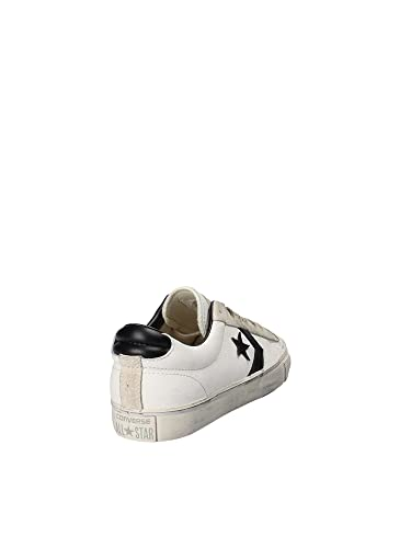 Converse Lifestyle Pro Leather Vulc Distressed Ox, Sneakers Basses Mixte Adulte, Multicolore (Star White/Black/Vaporous Grey 100), 43 EU