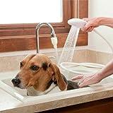 Shower Head Spray,Homedeco Pet Dog Cat Handheld Shower Multi-Functional Portable Shower Brush Grooming Tool,White,43.3 inch