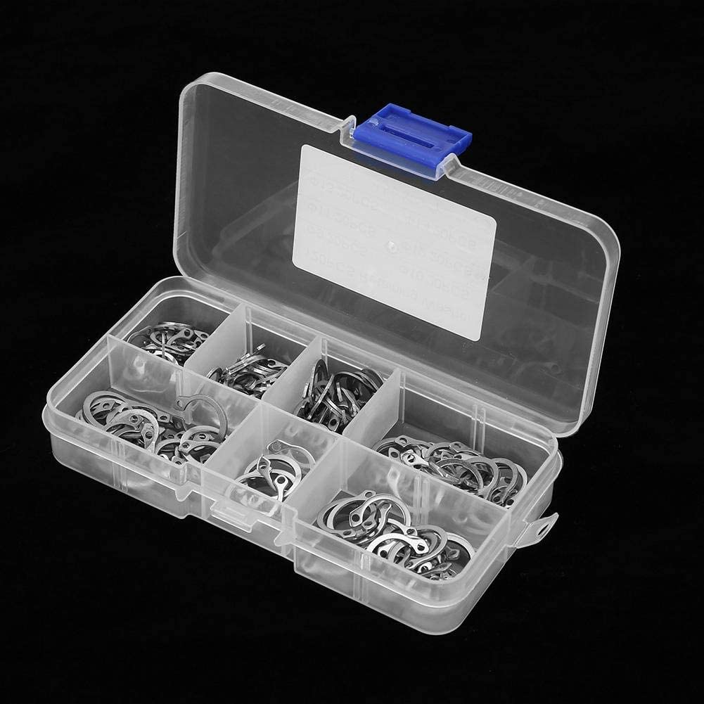 Ochoos 120pcs Stainless Steel Snap Retaining Ring Circlip Assortment Set with Box