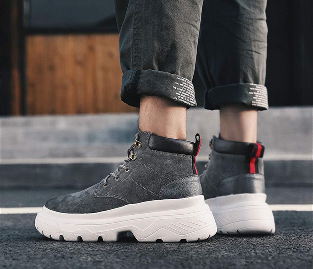 Männer Schuhe Men's Combat Stiefel, Leder Herbst Winter Komfort Stiefeletten Stiefeletten Stiefeletten Stiefeletten Braun Herrenmode Stiefel (Farbe   Grau, Größe   39) b48a3a