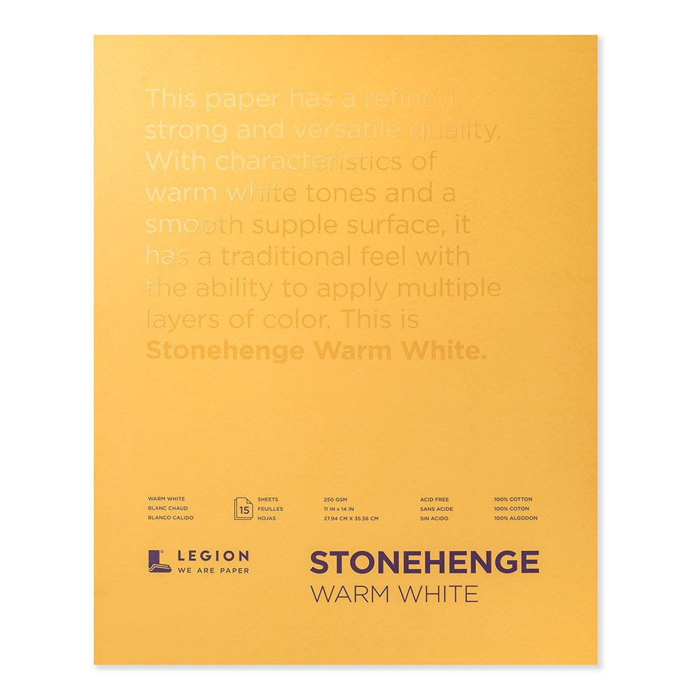 Legion Stonehenge Pad ( L21-STP250WW1114), 15 Sheets, 11 By 14 Inches, Warm White Sheets