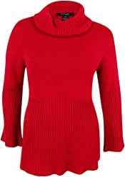Style & Co. Womens Knit Ribbed Trim Sweater