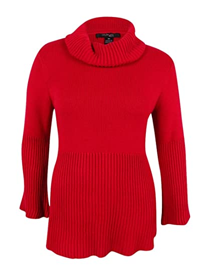 4afdd3b46a5 Amazon.com  Style   Co. Womens Knit Ribbed Trim Sweater  Clothing